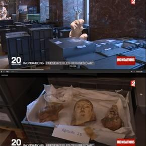 ルーブル美術館の地下収蔵作品、浸水被害を懸念して退避