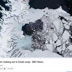 南極の亀裂二週間でさらに拡大