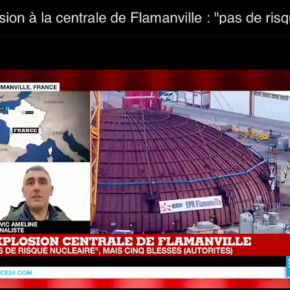 フラマンヴィル原子力発電所で爆発