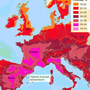 猛暑のヨーロッパ、少しは凌ぎやすく