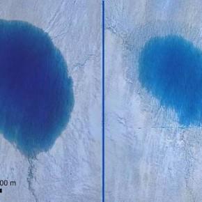 グリンランドの氷河、新しい現象