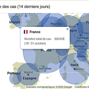 2週間で、50万人感染のフランス